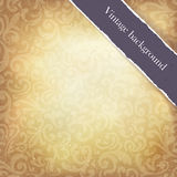 Vintage paper ornamented background Royalty Free Stock Photography
