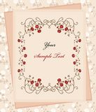 Vintage paper over floral background Royalty Free Stock Photography