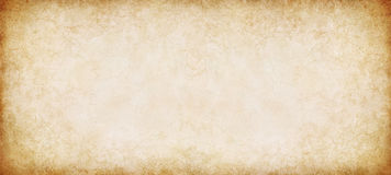 Vintage Paper Panorama. A vintage, textured paper background in a panorama format royalty free stock image