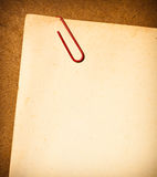 Vintage paper with Paper clip Royalty Free Stock Images