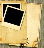 Vintage paper and photo Royalty Free Stock Photo