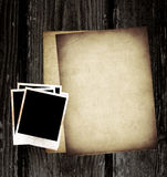 Vintage paper and photo Royalty Free Stock Photos