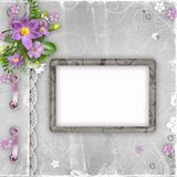 Vintage paper photo frame Stock Images