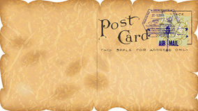Vintage paper postcard Royalty Free Stock Images