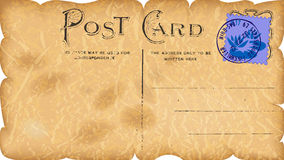 Vintage paper postcard Stock Photos