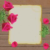 Vintage paper and roses love letter Stock Image