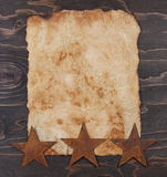 Vintage paper and rusty stars Royalty Free Stock Image
