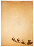 Vintage paper and Santa Claus. On Sledge With Deer Royalty Free Illustration