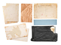 Vintage paper set Royalty Free Stock Images
