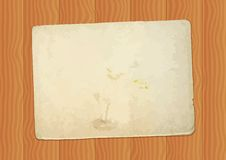 Vintage paper sheet at wood background Stock Photos