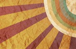 Vintage paper with sunburst. Vintage paper with sunburst textures background Stock Illustration