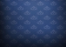 Vintage paper with symbol. Background blue vintage paper with a floral ornament Royalty Free Stock Photo