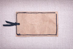 A vintage paper tag Royalty Free Stock Photo