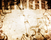 Vintage paper texture. With added music notes Royalty Free Stock Photography