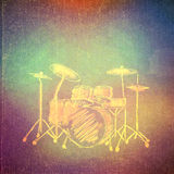 Vintage paper texture, abstract background. Vintage paper texture, art music background, drum kit stock illustration