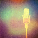 Vintage paper texture, abstract background. Vintage paper texture, art music background, microphone Royalty Free Stock Image