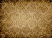 Vintage paper texture with floral patterns. Stock Image