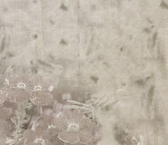 Vintage paper texture with pale flowers Stock Photography