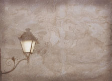 Vintage paper texture. Vintage streetlight on old paper with copy space Royalty Free Stock Photography