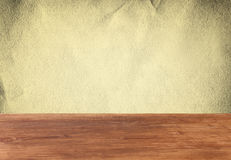 Vintage paper textured background and wooden board Royalty Free Stock Photo