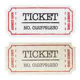 Vintage paper ticket, two versions. Vector illustration, EPS10 Stock Photo