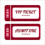 Vintage paper tickets Stock Photo