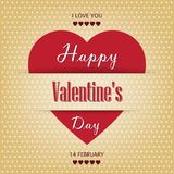 Vintage paper Valentines Day card with heart. Beautiful background for Valentines Day with hearts royalty free illustration