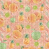 Vintage paper wallpaper with fruit Stock Photo