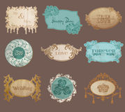 Vintage Paper Wedding Frame collection Stock Image
