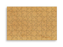 Vintage  paper on white background in the form of a puzzle Royalty Free Stock Image