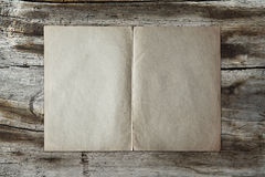 Vintage paper on wood texture Royalty Free Stock Photos