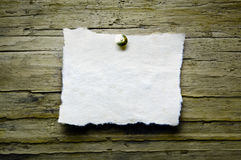 Vintage Paper on Wooden Royalty Free Stock Photo