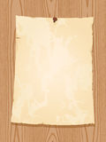 Vintage paper on wooden background Stock Photos