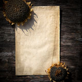 Vintage Paper on Wooden background Royalty Free Stock Image