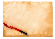 Vintage papers and pen Stock Images