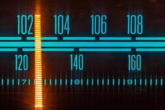 Vintage par radio de tuner, fin analogue du cadran FM/AM  photos libres de droits