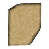 Vintage parchment. Vintage grunge rolled parchment illustration with ragged borders Royalty Free Stock Photography