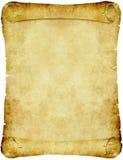 Vintage parchment paper scroll