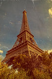 Vintage Paris postcard with Eiffel Tower Royalty Free Stock Photography