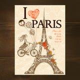 Vintage Paris Poster Stock Photos