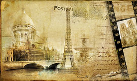 Vintage parisian almum Royalty Free Illustration