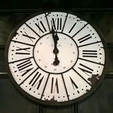 Vintage Parisian clock - minutes to midnight Royalty Free Stock Photography