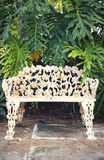 Vintage park bench Royalty Free Stock Images