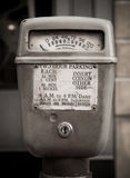 Vintage parking meter Royalty Free Stock Image