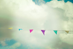 Vintage party flags Stock Images