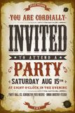 Vintage Party Invitation Background stock illustration