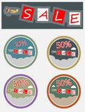 Vintage Passenger Aircraft and word sale  Stock Photography