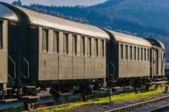 Vintage passenger coaches Stock Images