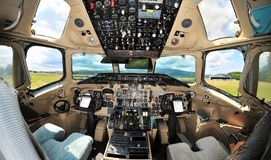 Free Vintage Passenger Jet Aircraft Cockpit Interior Royalty Free Stock Photography - 135737457