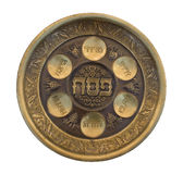 Vintage Passover Seder Plate Royalty Free Stock Photos